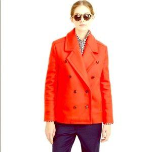 New!  NWT JCrew Italian wool pea coat.